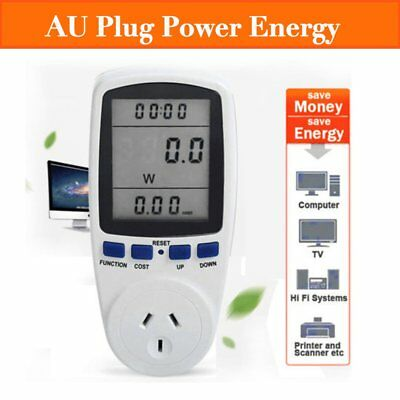240V Power Meter Monitor Energy Consumption Watt Electricity Usage Tester FK