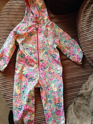Joules Girls waterproof All In One/ Rain Suit. 18-24 Months. New