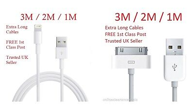 Extra Long 3M 2M 1M USB Charging Cable Charger Lead fit Apple iPhone 4/5/6/7/8
