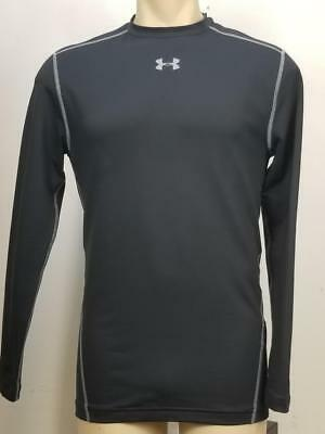 NWT$50 Under armour Men ColdGear Compression Long Sleeve Black Crew Shirt XL
