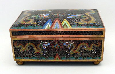 Fine Antique Qing Dynasty Chinese Cloisonne Box