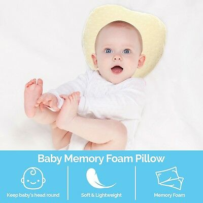 Baby Pillow Soft Head Shaping Pillow Pillowcase Hypoallergenic Sleeping Cushion