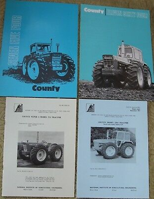 County Tractor Literature & Test  Reports