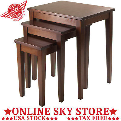 PIECE NESTING Table Set Living Room Coffee Tables Solid Wood Bench - 3 piece nesting coffee table