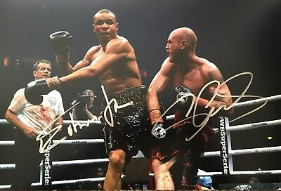 Original Hand Signed Boxing Picture By Chris Eubank Jr & George Groves