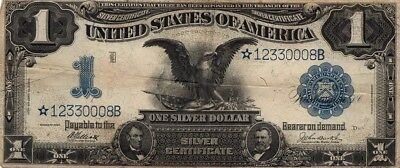 1899 Black Eagle Star Note ~ $1 Silver Certificate ~ S/N *12330008B ~ Fr. 234*