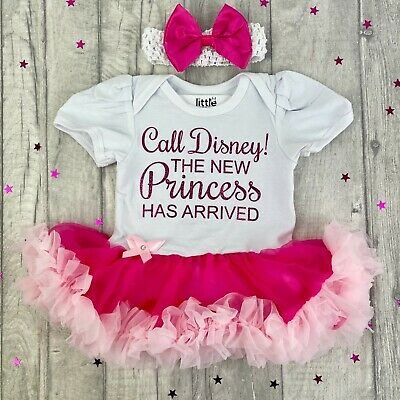 BABY GIRLS Call DISNEY PRINCESS Arrived tutu romper Dress NEWBORN Love Gift Cute