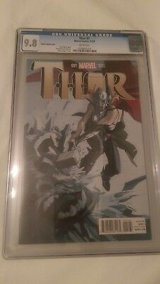 Marvel's Thor #1 Fiona Staples 1:25 Variant Cover CGC 9.8 Female Thor 2014 comic