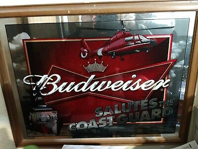 Budweiser salutes the United States Coast Guard Mirror Advertising Sign
