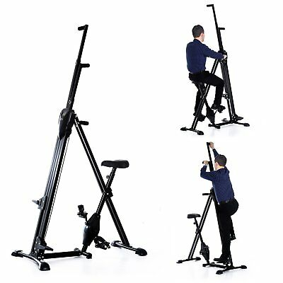 Homcom Vertical Climber Exercise Bike Stepper Cardio Home Gym Workout Fitness w/