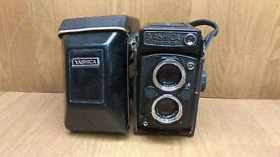 Yashica Mat 124G with Original leather felt lined case with long strap