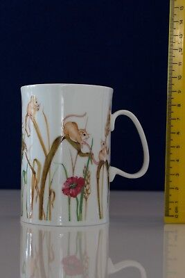 Dunoon 'Rustic Rascals' Mouse design fine bone china mug by Cherry Denman.