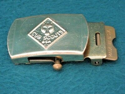 Vintage Cub Scouts Bsa Belt Buckle Boy Scouts Of America Solid Brass Usa Made