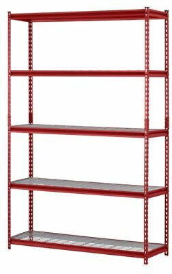 "Muscle Rack Ur184872-R 5-Shelf Steel Shelving Unit, 48"" Width X 72"" Height X 18"