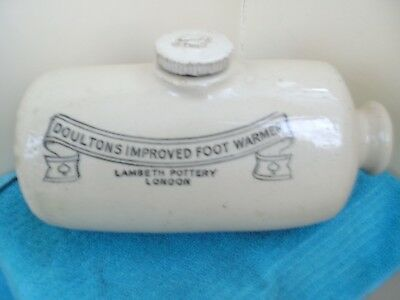 Vintage Doultons Improved Footwarmer Lambeth Pottery London