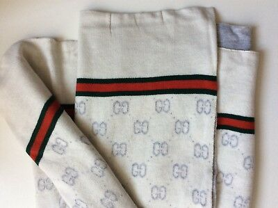 Gucci Baby Blanket NEW White and Grey throw cover