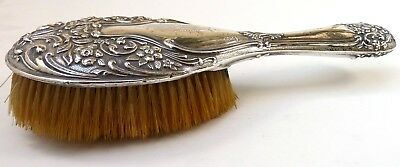 Silver Mounted Brush 1911 Hallmarked Sterling By Walker & Hall