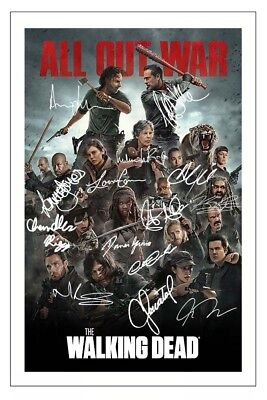 The Walking Dead Season 8 Cast Autograph Signed Photo Print  All Out War