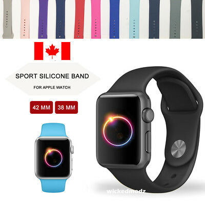 For Apple Watch Band 42mm 38mm Silicone Band Strap S-M M-L Various Colors