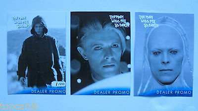 David Bowie the man who fell to earth  rare 3 card hand numbered promo set