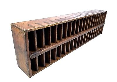Vintage Wooden Curio / Collectors Cabinet / Display Shelf / Pigeon Hole Style
