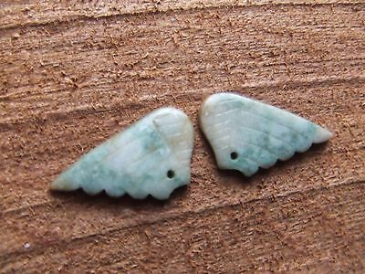 Chinese.   Jade Carved Wings.  Translucent Jade.  Superb.