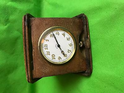 Antique Goliath 8 Day Swiss Made Pocket Watch With Leather Case