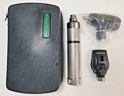 New - Welch Allyn Diagnostic Set 23820 Otoscope 11710 Ophthalmoscope - 97100-M