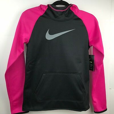 Nike Girls Dri-Fit THERMA Training Hoodie Pink   Black Size Large ~ NWT  A1601 c5da8986b