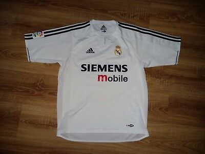 Real Madrid 2003 - 2004 rare player issue dual layer version home shirt size M