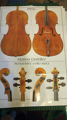 Poster of Mateo Gofriller Schneider cello 1693 from The Strad 84x67cm
