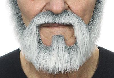 Mustaches On bail gray with white fake beard, self adhesive
