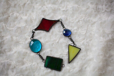 Colourful stained glass suncatcher mobile window decoration