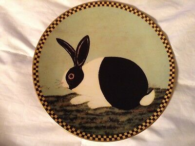 1994 LENOX Warren Kimble Black and White Bunny Numbered Plate