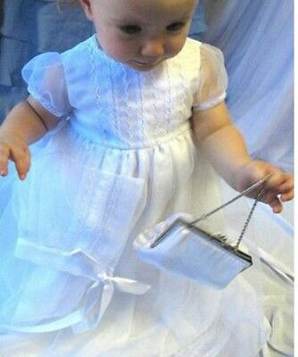 Isabel Garreton Girl's Christening Dress Hand Embroidered Organza Lace 6mos
