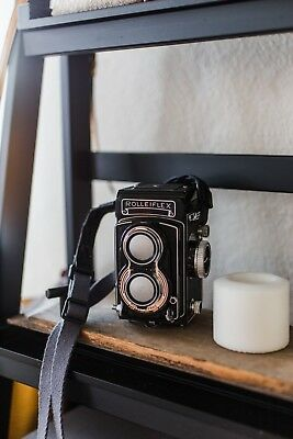 Rolleiflex T f/3.5 Zeiss Tessar Medium Format Film Camera Tested and Working
