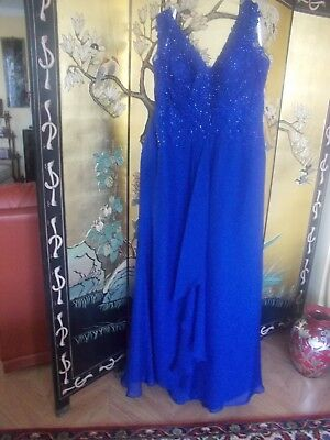 Mother Of Bride/Evening Gown, Montage by Mon Cheri Sz 18 Sapphire Blue, Stunning