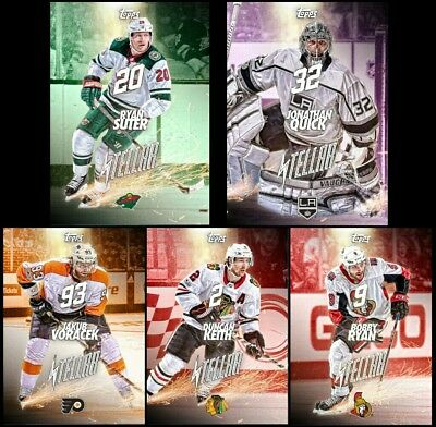 2018 STELLAR COMPLETE SET OF 5 DAY 1 RYAN/QUICK/SUTER++ Topps NHL Skate Digital