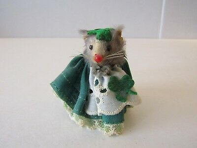 Mouse Factory Original Fur Animals Toy Mouse Irish St Patricks Day West Germany