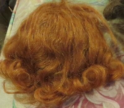 "c1756 Vintage 8"" Mohair Wig for Antique Bisque Doll"