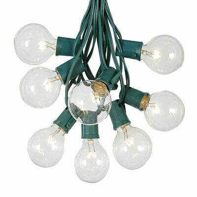 25 Foot G50 Outdoor Globe Patio String Lights - Set of 25 G50 Globe Bulbs