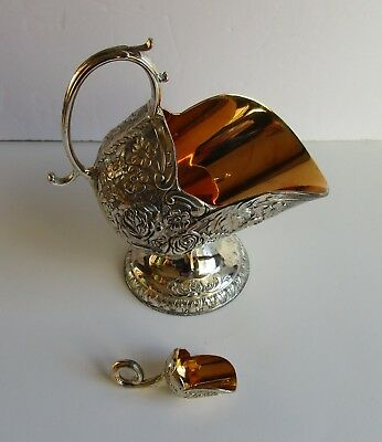 Vintage Silver Plate Sugar Scuttle and Scoop