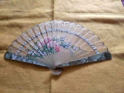 Vintage Chinese/japanese Hand Painted Fan