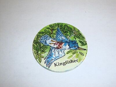 Rare Vintage 90's Kingfisher Clark Public Utilities Round Collectible Coin Card