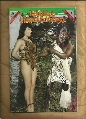 Betty Page in Jungle Land 0 vfn 1992 CCP Bettie Page Bunny Yeager scarce