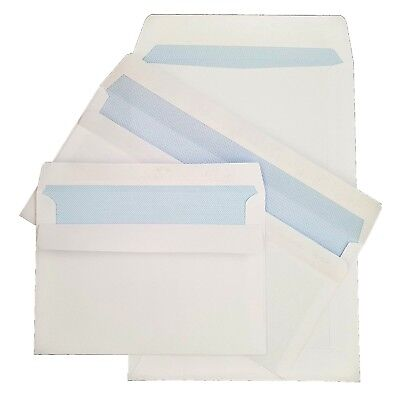 C5 C6 DL White 100gsm Self Seal Envelopes Quality Strong Adhesive Banker Flap
