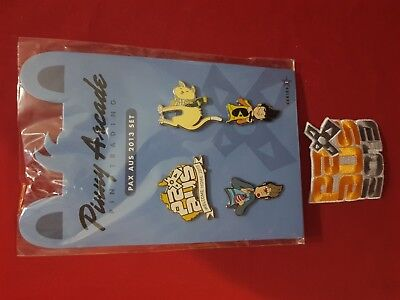 Pinny Arcade - PAX AUS Pins 2013 with Patch - RARE!