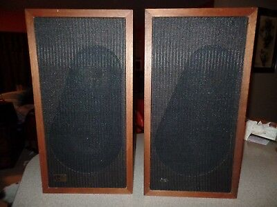 Vintage EPICURE M-100 SPEAKERS Top Quality Sound Looking Outstanding Heavy 25lbs
