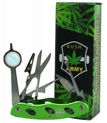 KUSH ARMY KNIFE All In One Multi Tool - For Smokers -Tobacco Pipe Tool Multi Use