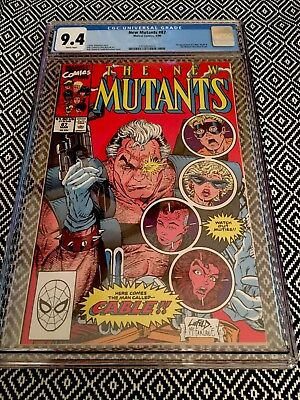 The New Mutants #87 CGC 9.4 NM 1st Appearance of Cable New Case KEY!! Deadpool